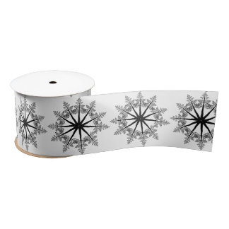 Snowflake of Trees Satin Ribbon