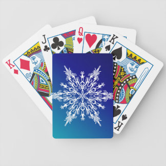 SNOWFLAKE  on Blue Bicycle Playing Cards