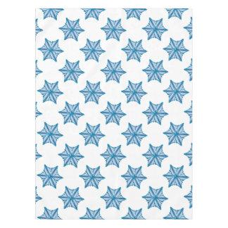 Snowflake On White Tablecloth