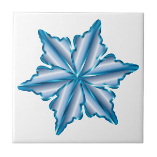 Snowflake On White Tile
