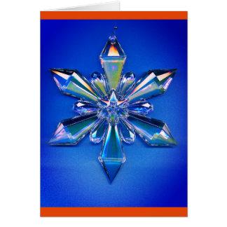 Snowflake Ornament Christmas Holiday Blue Card