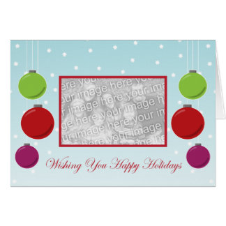 Snowflake Ornament Holiday Template Cards