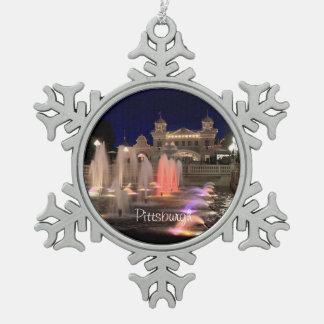 Snowflake-Ornament-Pittsburgh-Kennywood-Photo Snowflake Pewter Christmas Ornament