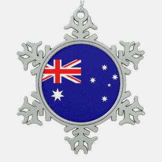 Snowflake Ornament with Australia Flag