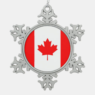 Snowflake Ornament with Canada Flag