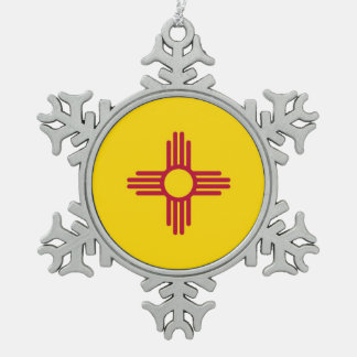 Snowflake Ornament with New Mexico Flag