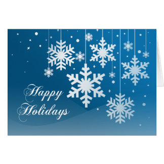 Snowflake Ornaments Folded Holiday Greeting Card