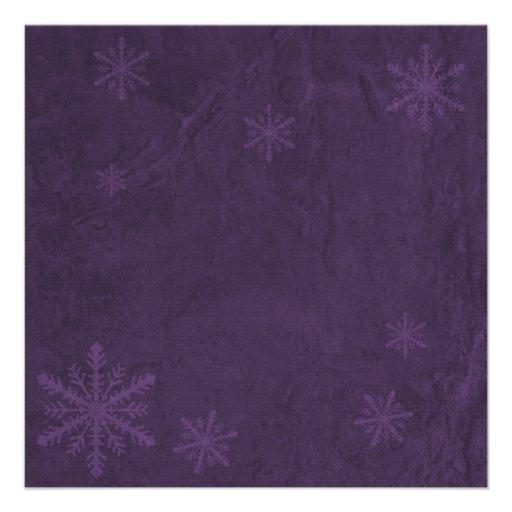 Snowflake Paper 4 - Dark Purple Invites