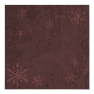 Snowflake Paper 4 - Dark Red Invites