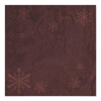 Snowflake Paper 4 - Dark Red Invites