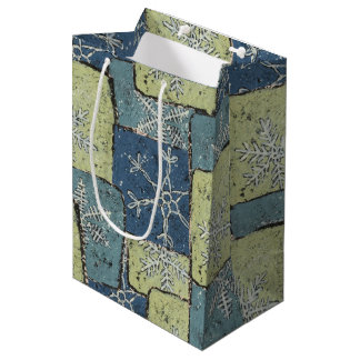 Snowflake Patches Medium Gift Bag