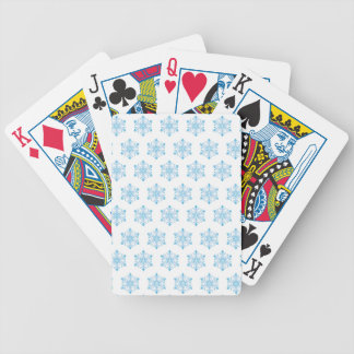 Snowflake Pattern Background Bicycle Playing Cards