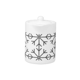 Snowflake  pattern - black and white.