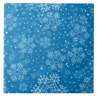 Snowflake pattern ceramic tile