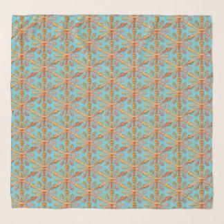 Snowflake Pattern Chiffon Scarf