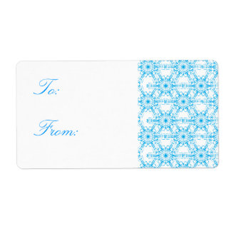 Snowflake Pattern Christmas Gift Tags Shipping Label