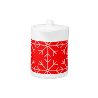 Snowflake  pattern - red and white.