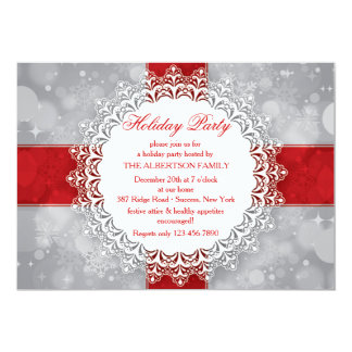Snowflake Perfection Holiday Party Invitation