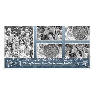 Snowflake Photo Card 5 photo collage