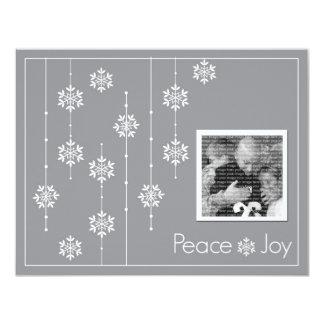 Snowflake Photo Custom Holiday Cards 11 Cm X 14 Cm Invitation Card