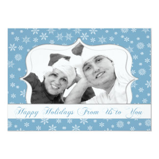 Snowflake Photo Holiday Card