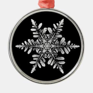 Snowflake Photo Ornament, 1-sided Metal Ornament