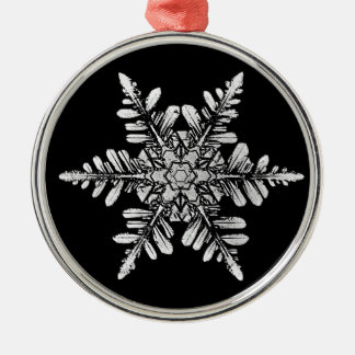 Snowflake Photo Ornament, 1-sided Silver-Colored Round Decoration
