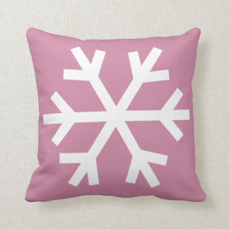 Snowflake pillow - pink