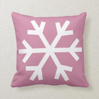 Snowflake pillow - pink