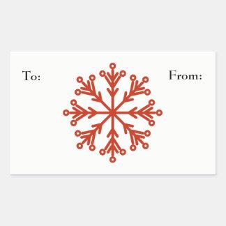 Snowflake Rectangular Sticker