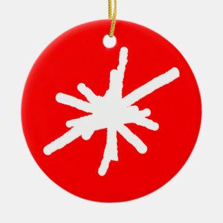 Snowflake - Red Christmas Ornament