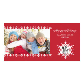 Snowflake  |  Red Holiday Photo Cards