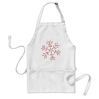 Snowflake - Red Stitches Standard Apron