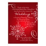 Snowflake Red Winter Wedding 13 Cm X 18 Cm Invitation Card