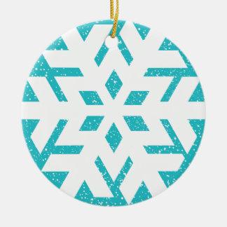 Snowflake Round Ceramic Decoration