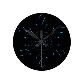 Snowflake Round Clock