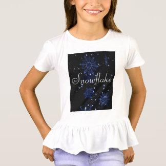 Snowflake Ruffle Tee Shirt