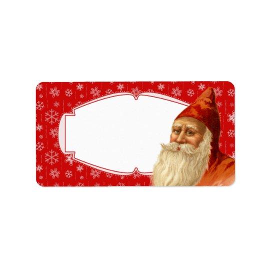 Snowflake Santa Christmas Gift Tags / Mailing Labe Address Label