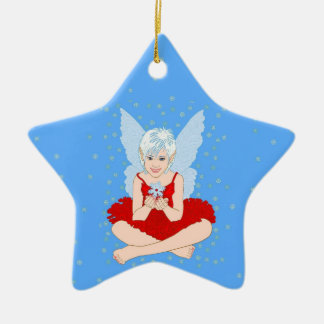 Snowflake Season Ceramic Star Decoration