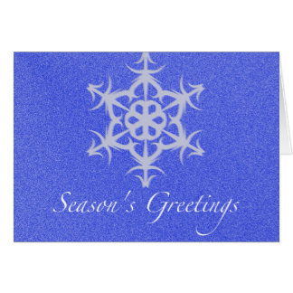 Snowflake Season's Greetings Greeting Card