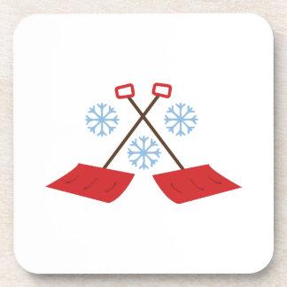 Snowflake Shovels Beverage Coaster