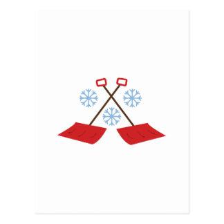 Snowflake Shovels Postcard