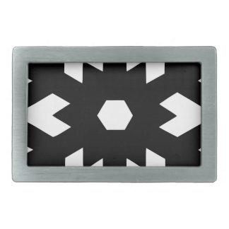 Snowflake Silhouette Belt Buckle