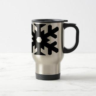 Snowflake Silhouette Travel Mug
