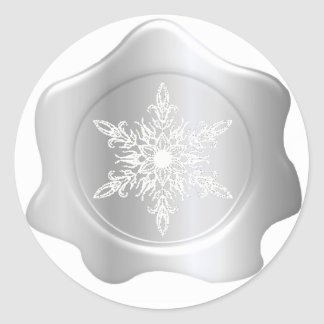 Snowflake Silver Wax Seal Stickers