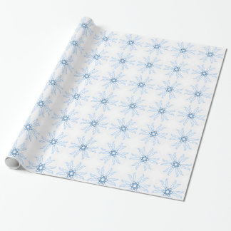 Snowflake? Star? Or just a blue & simple mandala? Wrapping Paper