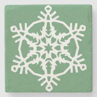Snowflake Stone Beverage Coaster