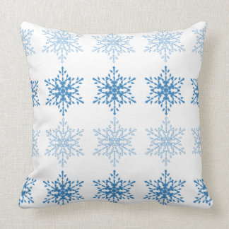 Snowflake Stripe Throw Pillow
