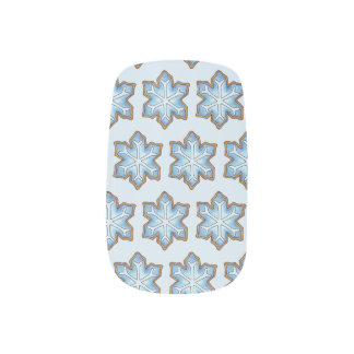 Snowflake Sugar Cookie Winter Hanukkah Christmas Minx Nail Art