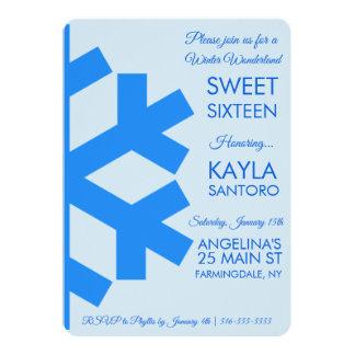 Snowflake Sweet 16 Invitation
